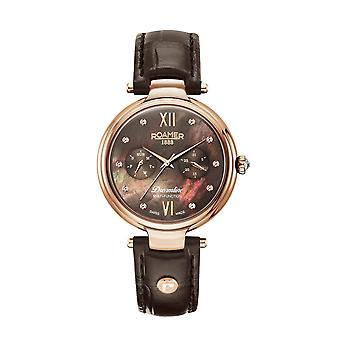 Roamer 600821 49 69 05 Dreamline Brown Mother Of Pearl Dial Wristwatch