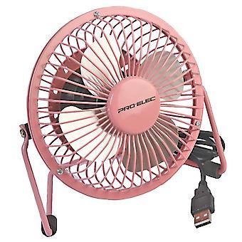 Pro elec 4-inch mini usb desk fan - pink