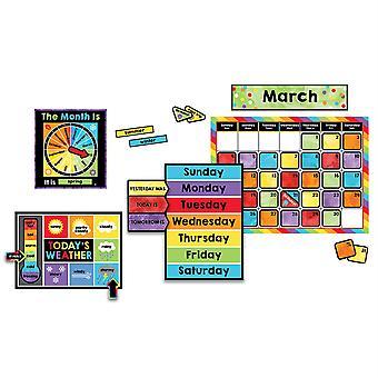 Feiern Sie das Set des Lernkalender-Bulletin-Board-Sets