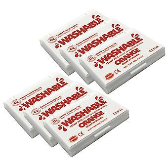 Washable Stamp Pad, Orange, Pack Of 6
