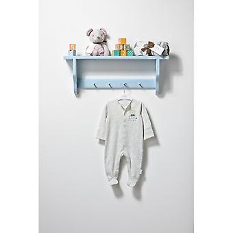 The Essential One Baby Boys Long Sleeve Grey Bailey Bear Sleepsuit