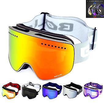 Women Unisex UV400 Protection Interchangeable Dual-Layer Frameless Goggles for Men MATRIXON NODLAND P1 Ski Goggles OTG Over The Glass AntiFog Snowboard Goggles
