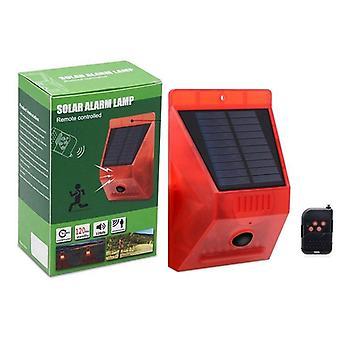 Lampe d'alarme solaire, télécommande, capteur de mouvement de sécurité, détecteur de sirènes