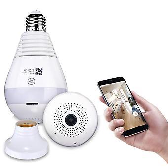 360 درجة بانورامية 1080P IR كاميرا ضوء لمبة واي فاي فيش الأمن كاميرا كشف الحركة