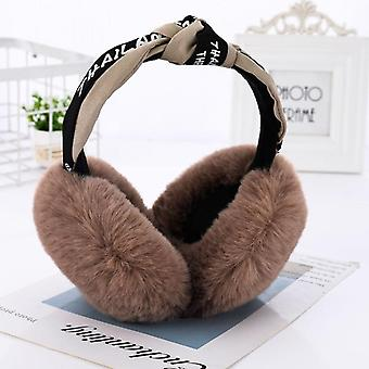 Fold-able Headphones Fashion Faux Fur Cute Little Mouse Kids Earmuffs Winter