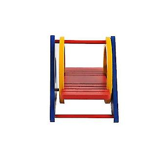 Colorful Hamster Rainbow Swing Wooden Seesaw-wooden Zoom Ladder, Funny Little Animal Toy