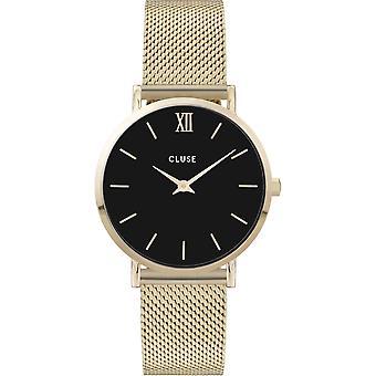 Cluse CW0101203017 Women's Minuit Gold Tone Mesh Wristwatch