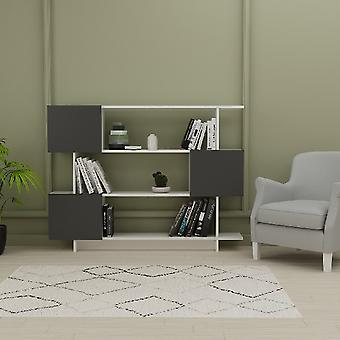 White Box Bibliotek, Melamine Spånskiva Antracite, L150xP23.8xA113.2 cm