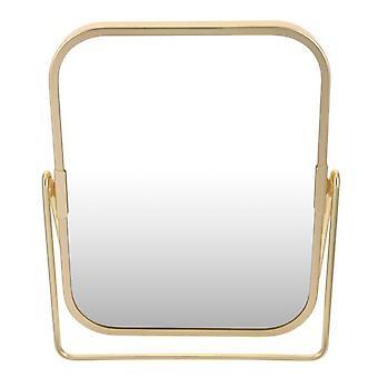 مرآة ماكياج الغرور مع موقف معدني 360 درجة دوارة سطح المكتب طاولة مرآة