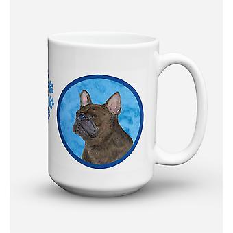 Caroline's Treasures SS4795-BU-CM15 French Bulldog Microwavable Ceramic Coffee Mug, 15 oz, Multicolor