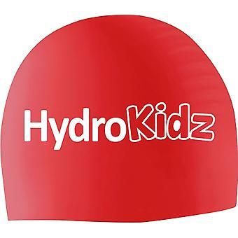 HydroKidz Children's Silicone Swim Caps -Red