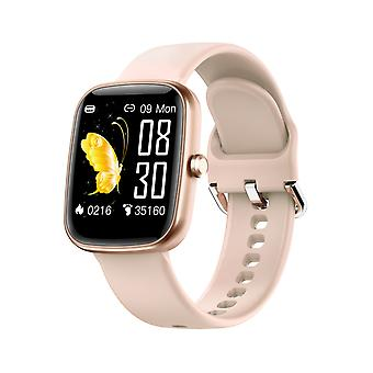 Reloj inteligente para unisex niños de 1,3 pulgadas pantalla táctil fitness monitores de actividad podómetro contador de pasos para Android iOS-Champagne1