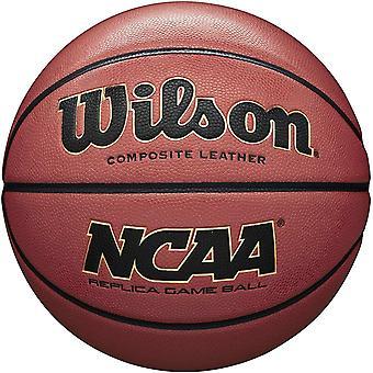 DZK Men's NCAA Replica Composite Basketball, Brown, Size 7