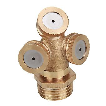 Three Ways Sprayer Fountain Nozzle Garden Sprinkler Head 1/2 inch Male Thread