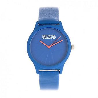 Crayo Splat Quartz Blue Dial Watch CRACR5306