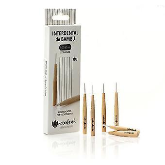 Brosse à dents interdenttale Naturbrush 0,60 mm Bambou (6 pcs)