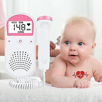 Portable family pregnant and baby monitor fetal preference sound baby heart pr lcd display fetal doppler 2.5m no radiation