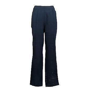 Susan Graver Women's Pants Slim-Leg Pull-On Pants Blue A384273