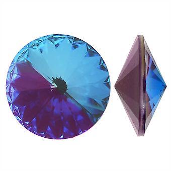 Swarovski Kristall, #1122 Rivoli Fancy Stones 12mm, 4 Stück, Crystal Burgundy DeLite