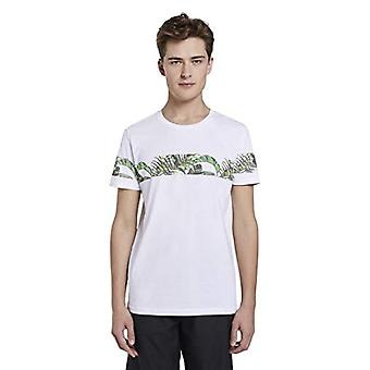 Tom Tailor Rundhals T-Shirt, 20000/White, XS Homme