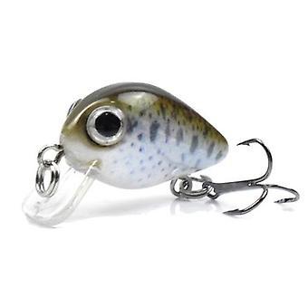 1.1 in / 0,06 un Sinking Fishing Lures Hard Body Lures mit Treble Hook Life-Like Swimbait Fishing Bait 3D Eyes Künstliche Köder Crankbait Angeln Tackle