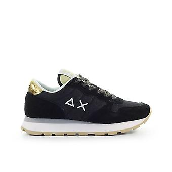 Sun68 Ally Thin Glitter Black Gold Sneaker