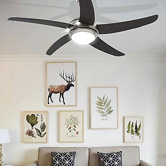 vidaXL Ventilateur de plafond décoratif avec ampoule 128 cm Brun