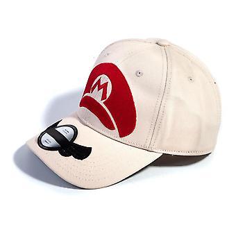 Nintendo - Mario Cap Logo Unisex verstellbare Kappe - Weiß