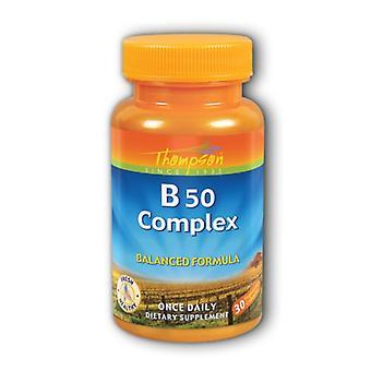 Thompson Vitamin B Complex, 50 30 Caps