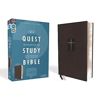 NIV Quest Study Bible Leathersoft Black Comfort Print The Only Q and A Study Bible von General Editor Christianity Today Intl