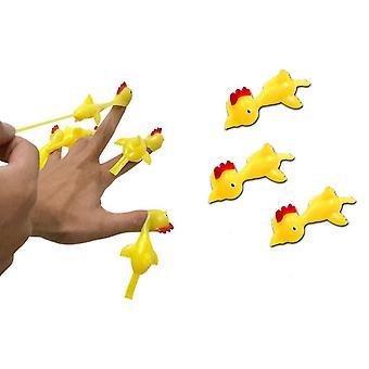 5 stuks Tpr Kip Vinger Katapult Fidget Toys Funny Stress Relief Toys