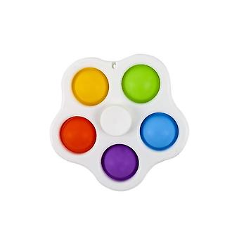 Finger Spinner Push Pop Bubble Funny Stress Reliever For Kids