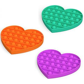 Push Pop Bubble Stress Reliever Heart Shaped