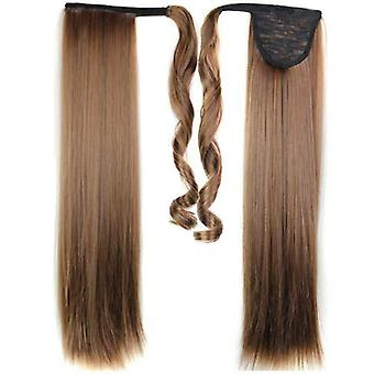 (60cm2-30M) Ladies Women's Clip In as Hair Extension Pony Tail Wrap Around Wrap On Ponytail