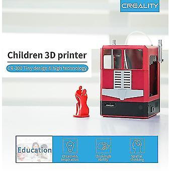 CR-100 Mini 3D Tulostin 100 * 100 * 80mm Tulostuskoko Creality 3D lapsille (keltainen)
