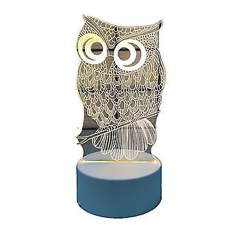 Creative Christmas 3d Night Light Holiday Gave Flerfarver Skiftende Night Lamp