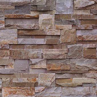 Muriva Natural Slate Brown Wallpaper J18437