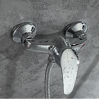 Brass Wall-mounted Shower Set- Simple Portable  Hot And Cold Faucet