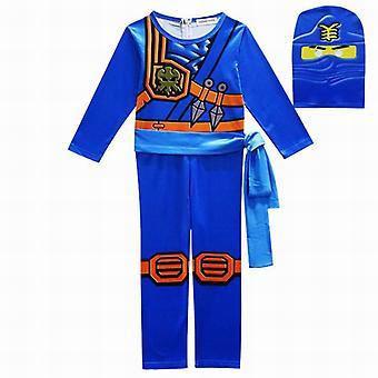 Cosplay puvut poika jumpsuits asettaa 3kpl / asettaa halloween joulujuhla vaatteet ninja supersankari streetwear puvut