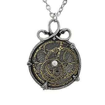 Alchemy Gothic Anguistralobe Astrolabe Pendant W/ Necklace