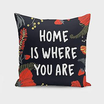 Pillowcases shams home is where you are cushion/pillow cover sm148712