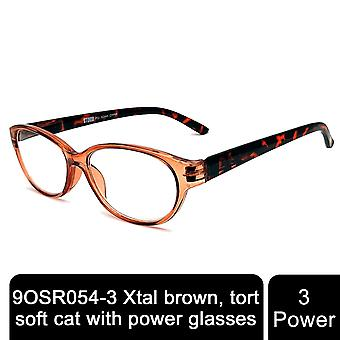 Storm Unisex Leightweight Xtal Brown To Tort Comfortable Spring Hinge +3 Power Glasses