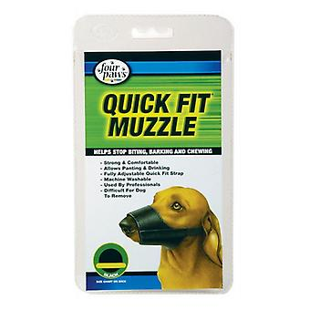 """Four Paws Quick Fit Muzzle - Size 0 - Fits 4.5"""" Snout"""