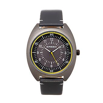Breed Victor Leather-Band Watch - Grey