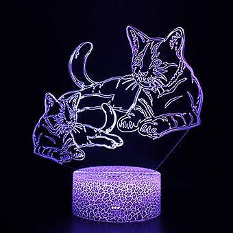 Lampada touch 3d Kids Night Lights 7 colori con telecomando - Cat