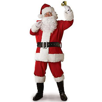 Costumes de Noël Costumes de Noël Costume de Père Noël Adulte Costume de Cosplay avec Chapeau de Barbe