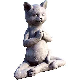 Stone Garden Tatue, Katzen-Buddha-Ornament, Outdoor-Meditation Katzenstatue, Meditation Katzenstatue für Wohnkultur, Outdoor-Kunst