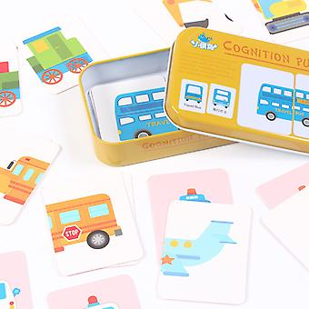 Baby Baby 32pcs Flash Card Jigsaw Cognition Puzzle Vorm Matching Card Toy