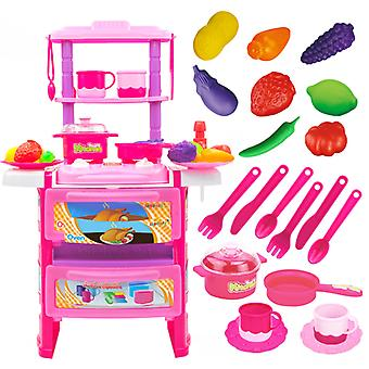 Children Play Kitchen Tabletop Lighting Music Kitchenware Educational Toys