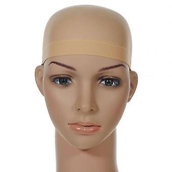 2pcs Unisex Stretchable Wig Liner Cap Hair Net Elastic Mesh Hairpiece Acessório
